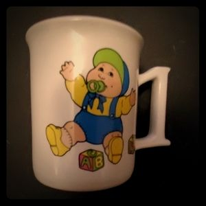 Vintage 1985 Cabbage Patch Kid 1st Birthday Mug